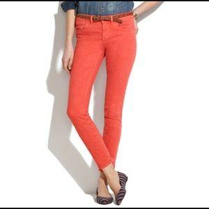 MADEWELL | coral skinny skinny jeans 26